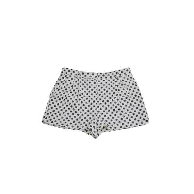 polka dot short pants white and black